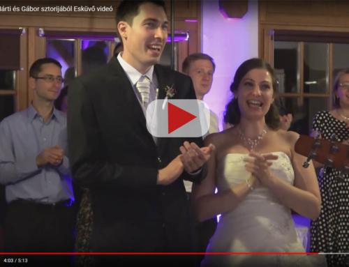 VIDEÓ: Márti és Gábor esküvőjén énekeltem